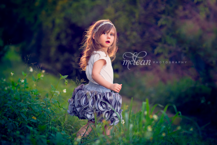Winter Garden Child Portraits Photographer